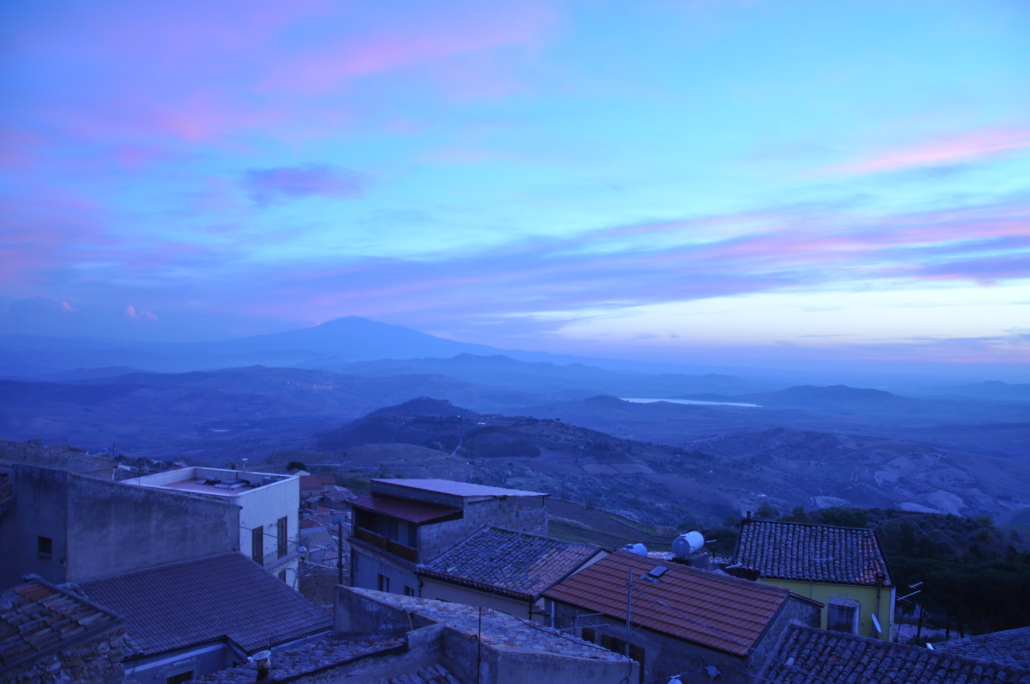 Sunrise over Etna from the AEM:CAP dig house.
