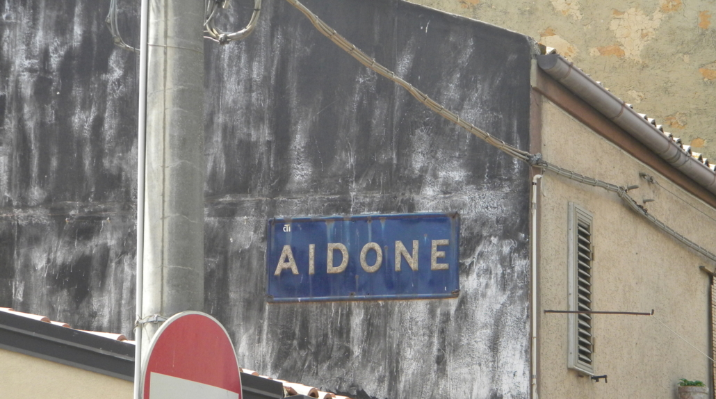 Aidone street sign.